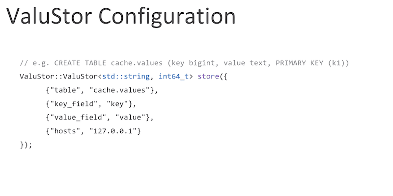 ValuStor Configuration